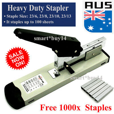 Metal Heavy Duty Stapler Home Office Can Staples up 100 sheets Free 1000 staples