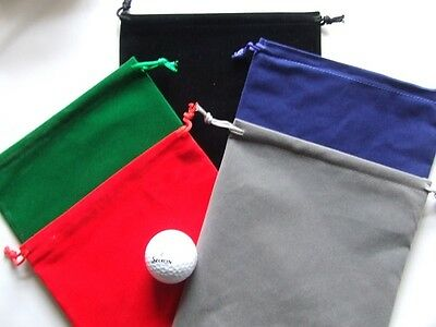 Golf tee bag Velvet 20 x 23 cm for all your bits and bobs. 5 Colours to choose