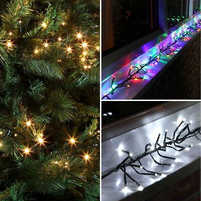 6.2M - 9.3M Outdoor Garden Roof Christmas Cluster Led Fairy String Lights