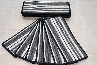 14 Stripe Carpet Stair Case Treads Vouge Stripe 14 Large Stripey Stair Pads