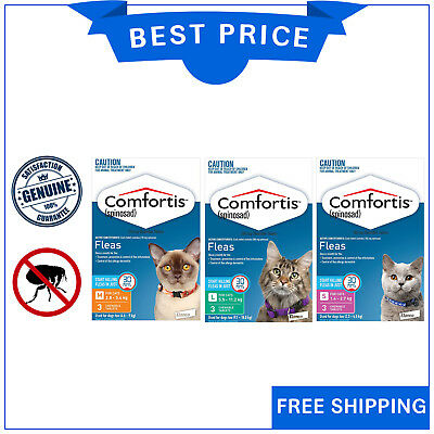 COMFORTIS for Cats 3 Chews All Sizes Chewable Flea treatment for Cats