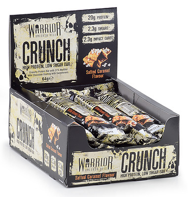 Warrior Crunch Protein Bars - Great Tasting Protein On The Go - Free P&P