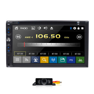 "HD Sony Lens Double 2Din 7""Car Stereo Radio DVD Player iPod Bluetooth TV MP4 Mic"