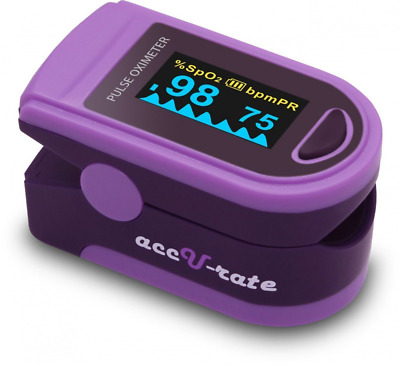 Acc U Rate Pro Series DELUXE CMS 500D Finger Pulse Oximeter Blood Oxygen Saturat