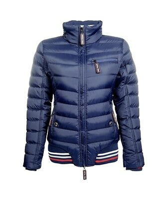 Kinder Steppjacke Performance HKM PRO TEAM dunkelblau NEU