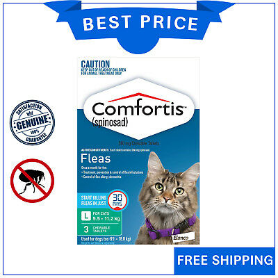 COMFORTIS for Cats 3 Chews 5.5 to 11.2 Kg GREEN Pack Chewable Cat Flea treatment