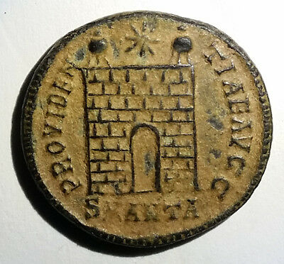 Ancient Roman Empire Bronze Coin Constantine I 307AD-337AD Follis Campgate