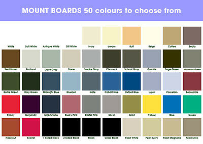 2 x A1 Mount Boards 50 Colours To Choose From - Mix Any Colours - 2 Sheets pack