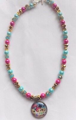 Beautiful Shimmer and Shine children's necklace (hand crafted )  16""