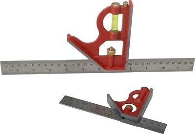 """Faithfull Combination Square Ruler Scribe Imperial/Metric 6"""" 12"""" 