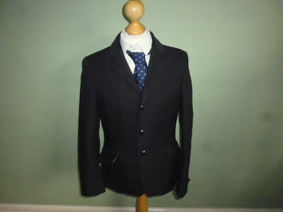 "Mears competition show jacket black unisex boys girls size 30"" age 11-12 years"