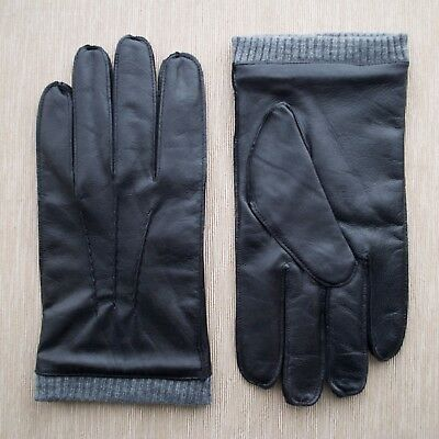 Men's Full Pique seam Leather Gloves For Daily wear and Cycling