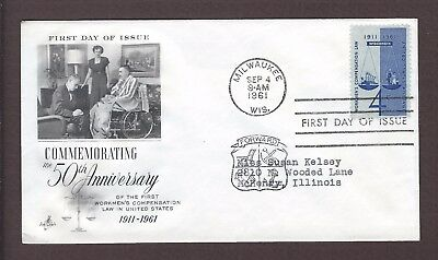 mjstampshobby 1961 US Women Compensation Law In US FDC MNH (Lot4955)