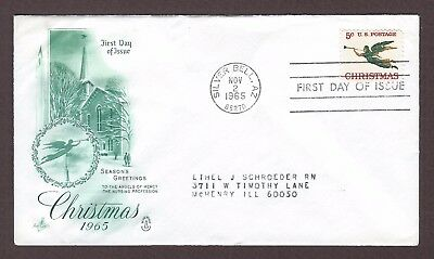 mjstampshobby 1965 US Christmas FDC Used (Lot4974)