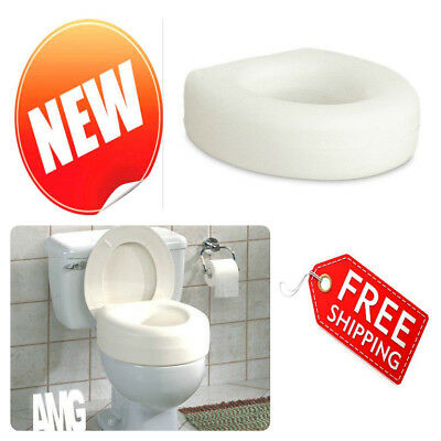 """Elevated Raised Toilet Seat Fit Standard Commode Bowls 4"""" Seniors Disability Aid"""