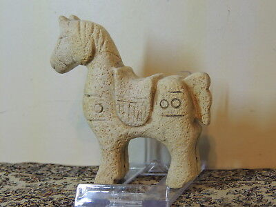Antique Chinese ,Carved Stone Horse Figure Statuette