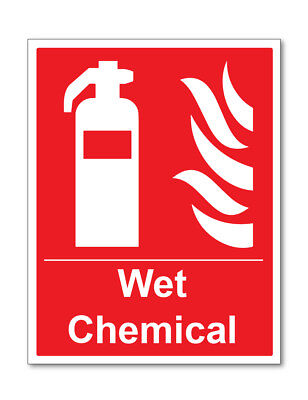 Wet Chemical Sign Self Adhesive Stickers Safety Signs