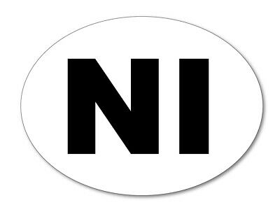 2 x NI FLAG NORTHERN IRELAND Car Number Plate vinyl stickers