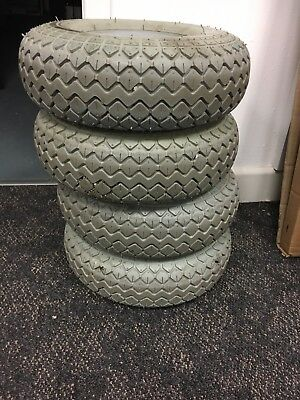 Solid Tyres For Mobility Scooter (Used) 400-5 (330-100) Grey Block Diamond