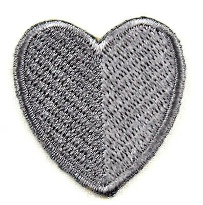 iron-on patch appliqué 10-588 Heart, gray