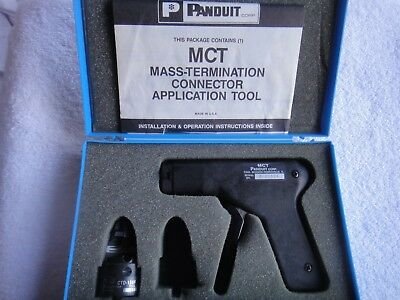 PANDUIT MCT Mass Termination Connector Application Tool w/CTD-156F tip