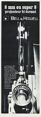 PUBLICITE  CAMERA PROJECTREUR BELL & HOWELL  CINEMA FILM  AD  1967  * 3F-b