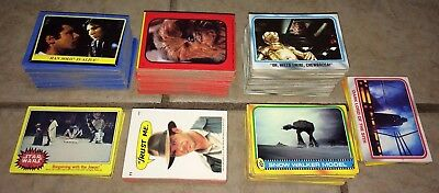 Lot of 475 Star Wars & Indiana Jones Trading Cards, 1977-'84, Stickers