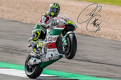 2017 MOTOGP Cal Crutchlow Silverstone UK Signature Photograph Plus Two Free