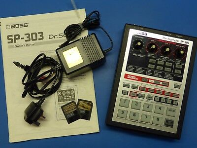 Boss Dr Sample SP 303 Sequencer Sampler Effects perfect working order