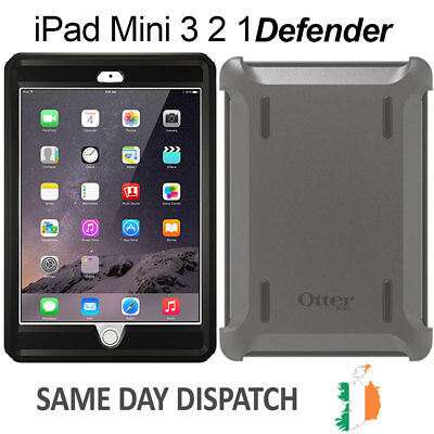 For iPad Mini 3 2 1 Genuine Otterbox Defender Series Tough Case Cover Shockproof