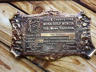 Golf award MOSA GOLF MURCIA Paul Benham
