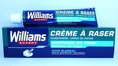 Williams Shaving Cream MENTHOL 100ml - ICE FRESH - Fresh and Moisturizer - Boxed