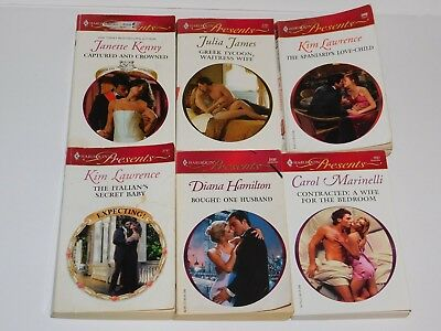 (00A) LOT of 6 Harlequin Presents Romance Paperback Books 2000's