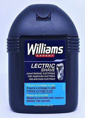 Williams Pre Shaving Electric LECTRIC SHAVE - 100ml Prepares & Protects Skin New