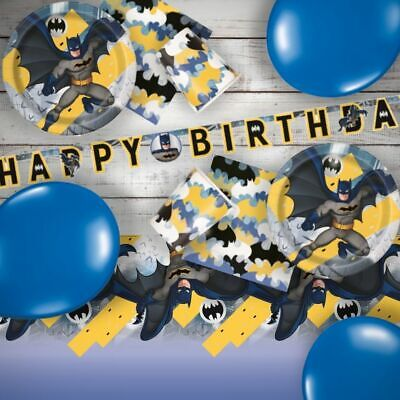 Batman Superhero Party Supplies Tableware Decorations Cups Plates Balloons