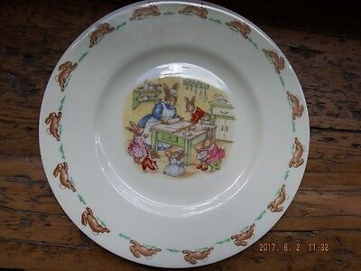 Vintage Bunnykins plate - Baking in the Kitchen