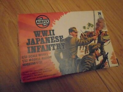 Vintage Airfix Set of WW2 Japanese Infantry 1:32 Scale Poly Figures