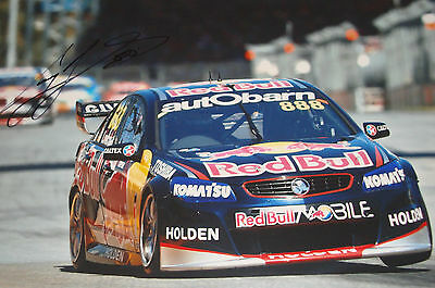 Craig Lowndes SIGNED 12x8, Aussie V8 Supercars Clipsal 500 Adelaide 2013