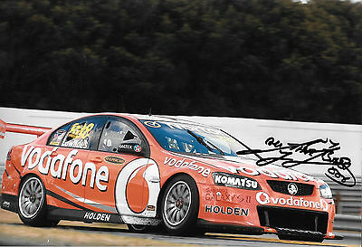Craig Lowndes SIGNED 12x8, Vodafone Holden Commodore, Australian V8 Supercars