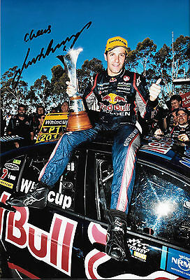 Jamie Whincup SIGNED 12x8, Aussie V8 Supercar Champion 2014.