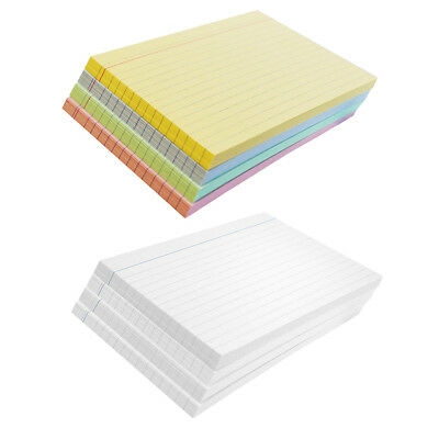 Packs of 100 Revision Flash Index Record Cards - White/Coloured - Ruled or Plain