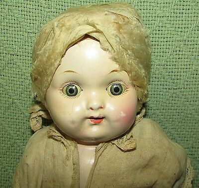 EFFANBEE Composition Doll Antique Cloth Baby 1920s Parts or Repair Sleepy Eyes