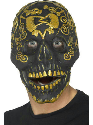 MASCARELLO Deluxe Cave Demon Mask Skull Skeleton Latex Horror Mask Halloween