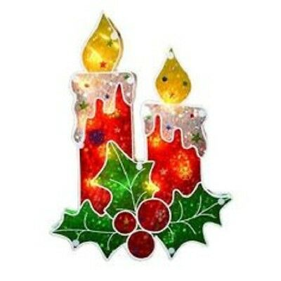 Glazed Illumination Lights - Indoor Christmas Fairy Lights - Candles & Mistletoe