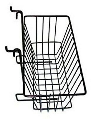 "Only Hangers Slatwall Gridwall Basket 12"" Long x 6"" Deep x 6"" High Black"