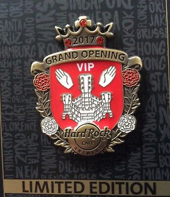 Hard Rock Cafe Antwerp grand opening VIP 2017 limited edit 300 pin sold out