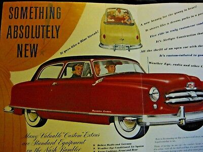 Nash Classic Car Advertising brochure great 4 car shows & display with car