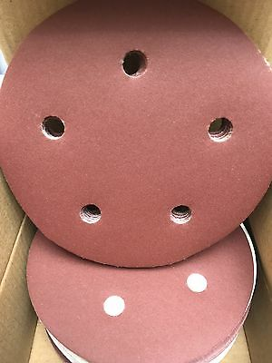 "Keen 5"" H&L sandPaper Sanding Disc - 5 Vac Holes - 400 Grit - Box of 50, #74552"