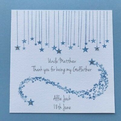 Personalised Thank You For Being My Godmother Card - Godparents - Godfather