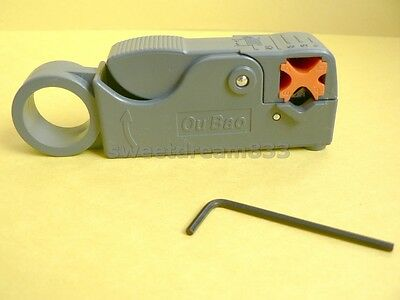 Coax cable cutter coaxial Rg58 Rg6 rotary stripper tool